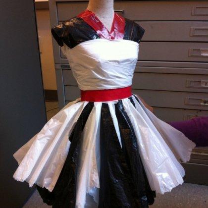 Платье из пакетов своими руками для детей